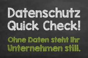 Dienstleistungen Datenschutz Quick Check